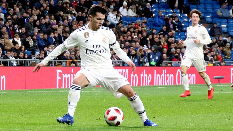 Brahim, en un partido del Real Madrid (Foto: Enrique Falcón)