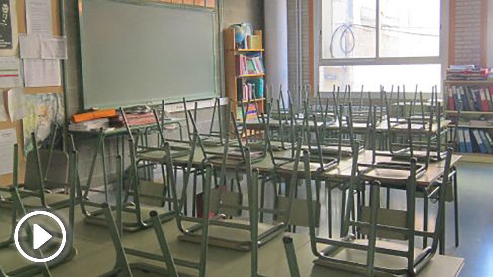 Aula de un centro escolar. Foto: Europa Press