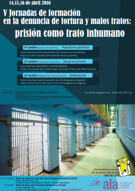 """El n° 1 de Prisiones participó en unas jornadas para denunciar las """"torturas"""" en las cárceles españolas"""