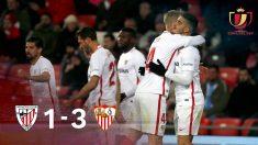 El Sevilla se impuso al Athletic Club en San Mamés (1-3).