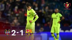 Coutinho fue el autor del gol de un Barça irreconocible sin Messi.