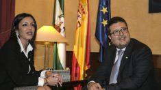 Francisco Serrano (VOX) con Marta Bosquet (C's). (EP).