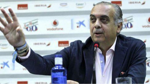 José Luis Sáez, en una rueda de prensa en 2014. (Alberto Nevado)