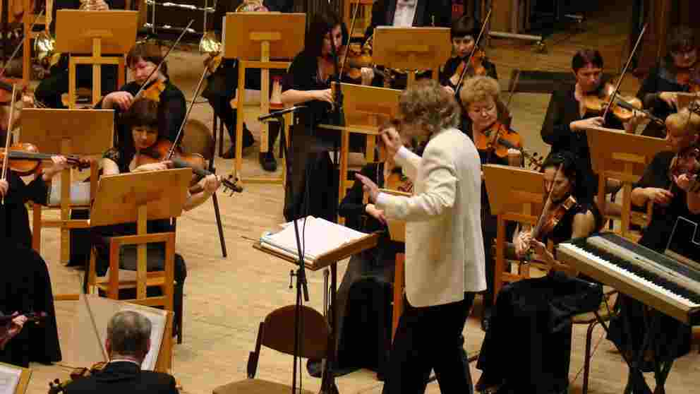 Imagen de una orquesta sinfónica de archivo.