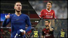 Eden Hazard, Firmino y Suso son los favoritos para fichar por el Real Madrid.