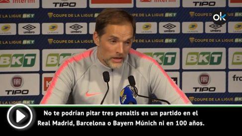 Tuchel, técnico del PSG, en rueda de prensa. (vídeo: Juanma Yela)
