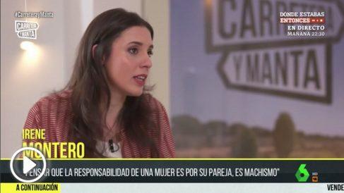 Irene Montero habla sobre Pablo Iglesias en La Sexta