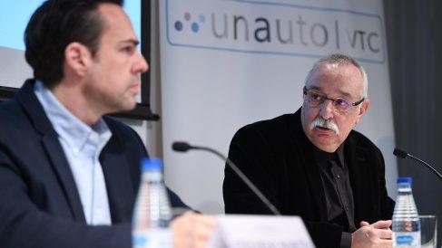 Eduardo Martín, presidente de Unauto VTC (izquierda) junto con su vicepresidente Josep Maria Goñi