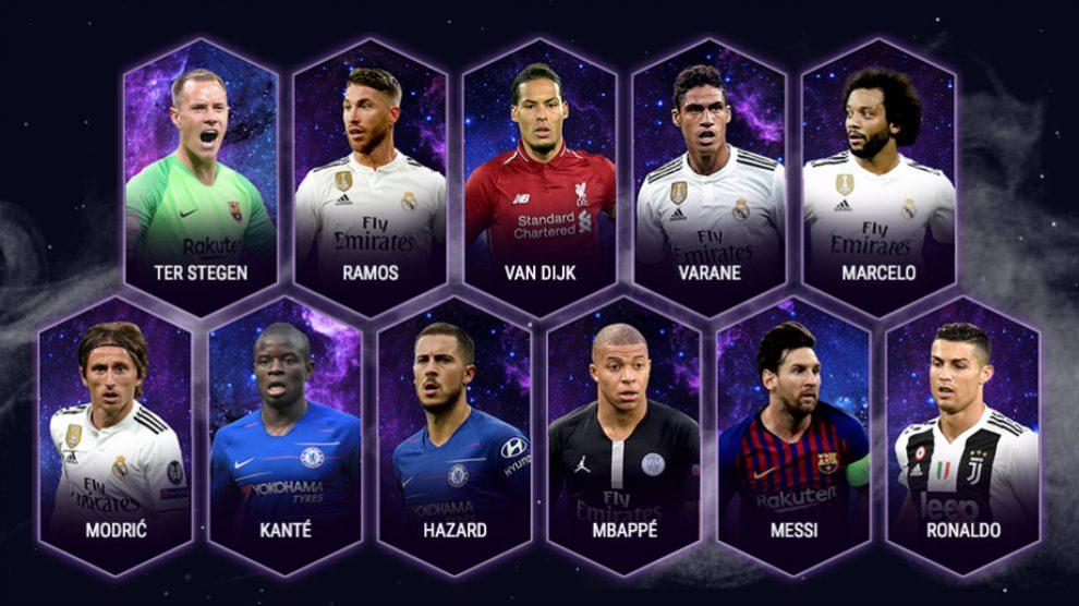 Cuatro jugadores del Madrid en el equipo del año de la UEFA. (Uefa.com)