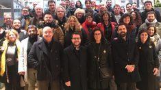 Los diputados de ERC con la fugada Marta Rovira en Ginebra. (RRSS).