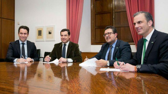 """VOX advierte de que C's provocará una crisis en Andalucía si """"torpedea"""" su pacto con el PP"""