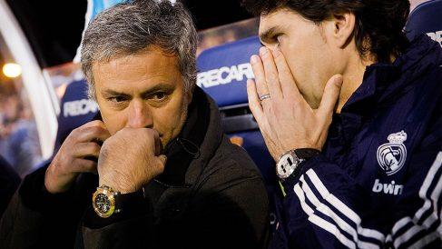 José Mourinho y Karanka.