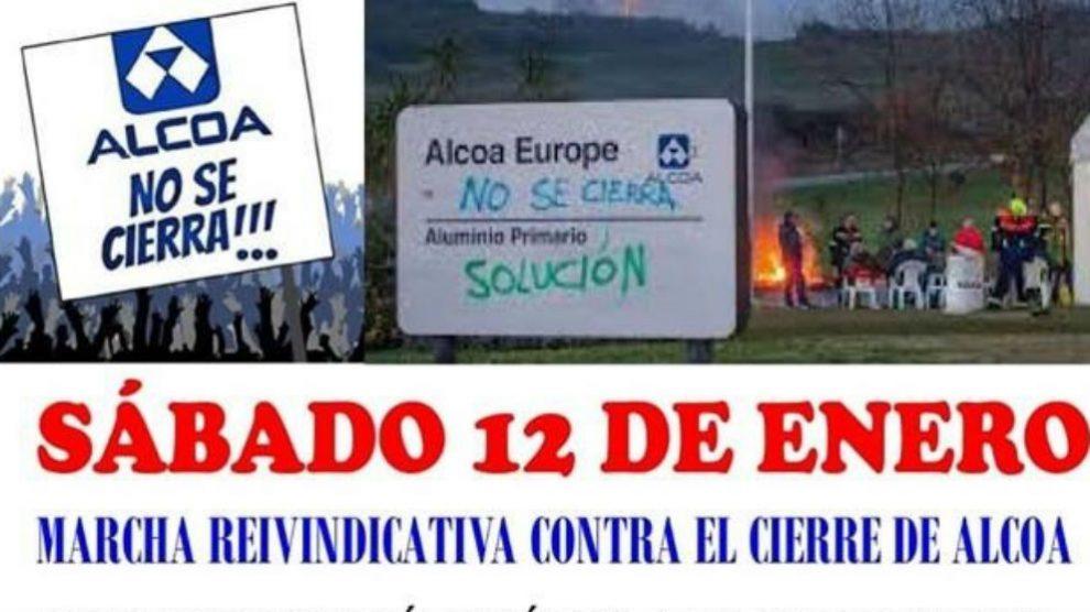 Convocatoria de la manifestación de trabajadores de Alcoa (Foto: EP)