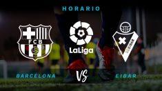 Liga Santander 2018-2019: Barcelona – Eibar | Horario del partido de fútbol de Liga Santander.