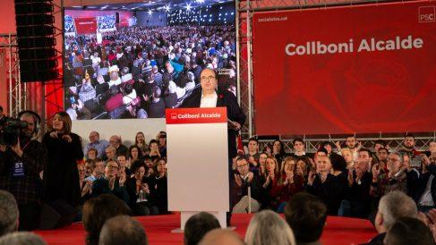 Miquel Iceta en el mitin del PSOE de Barcelona. Foto: Europa Press