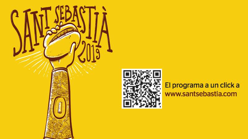 El programa de fiestas está ilustrado con una caricatura de la reliquia del patrón de la ciudad, San Sebastián.