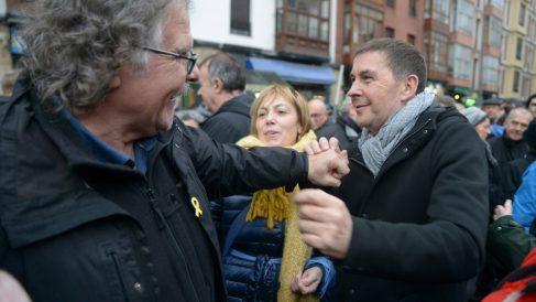 Joan Tardà y Arnaldo Otegi (Foto: EP)