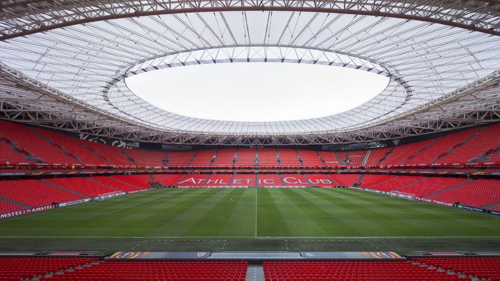 El estadio de San Mamés no será sede de la Eurocopa 2021.