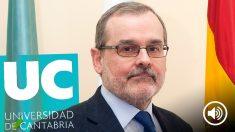 El rector de la Universidad de Cantabria, Ángel Pazos