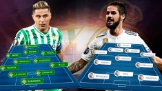 Betis y Real Madrid se enfrentan este domingo en el Villamarín.