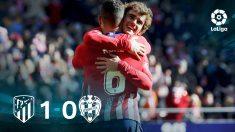 El Atlético se impuso al Levante gracias a un de Griezmann.