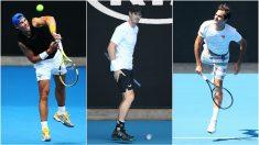 Nadal, Murray y Federer se estrenan en la primera jornada del Open de Australia. (Getty)