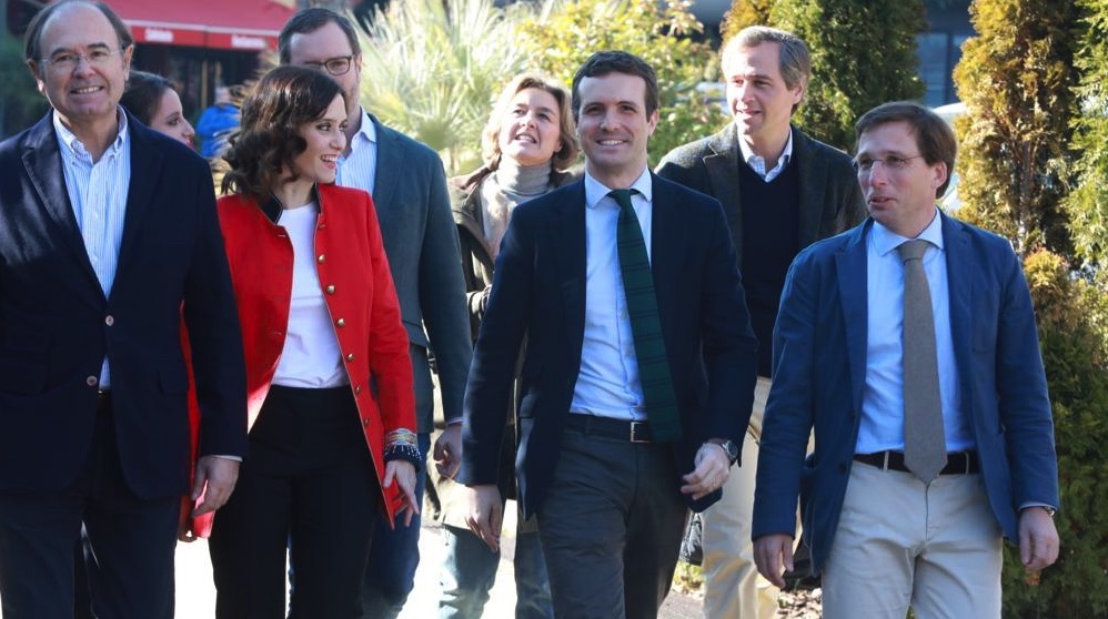 Presentación de los candidatos del PP de Madrid.