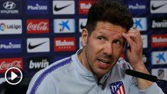 Simeone analiza el partido ante el Sevilla en rueda de prensa. (EFE)