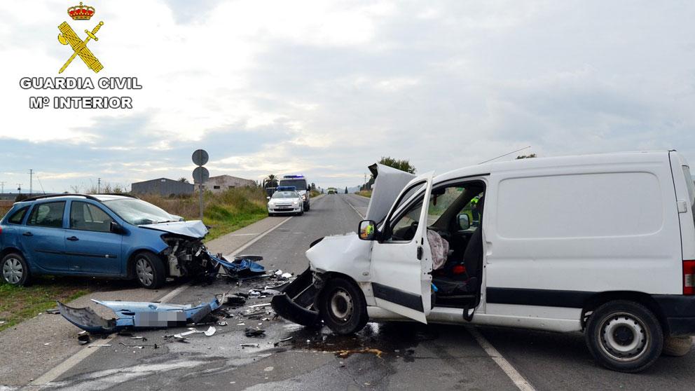 Un accidente mortal en las carreteras españolas. Foto: Guardia Civil