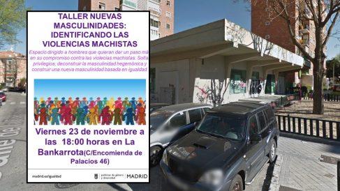 Cartel del evento y sede del 'Centro Político Kolectivizado La Bankarrota'.
