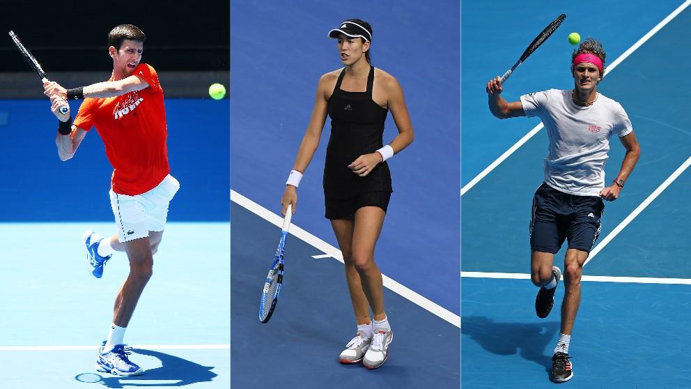 Djokovic, Muguruza y Zverev debutan en la jornada 6 del Open de Australia 2019. (Getty)