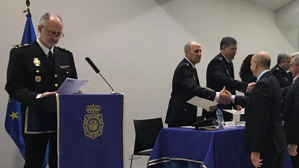 La Comisaría Provincial del Cuerpo Nacional de Policía ha conmemorado este lunes, en la Sala de los Cristales del Palacio de Exposiciones y Congresos de Oviedo, el 195 aniversario de la creación de la Policía General del Reino. Foto: Europa Press