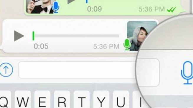 grabar un audio en WhatsApp
