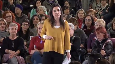 La portavoz de Podemos en el Congreso, Irene Montero: «Vienen tiempos de miedo»