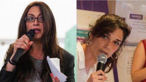 Sol Sánchez y Clara Serra. (Foto. IU y Podemos)