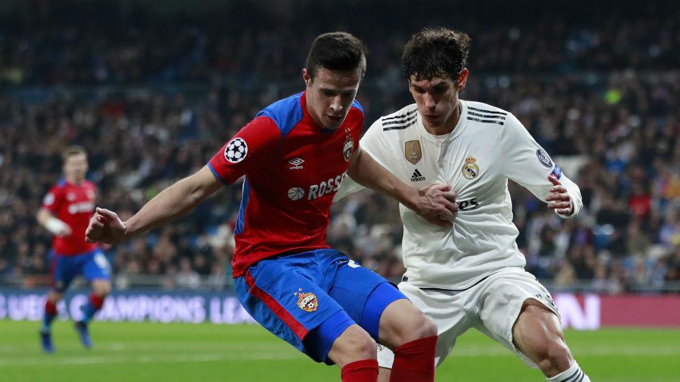 Jesús Vallejo, durante un partido con el Real Madrid. (Getty)