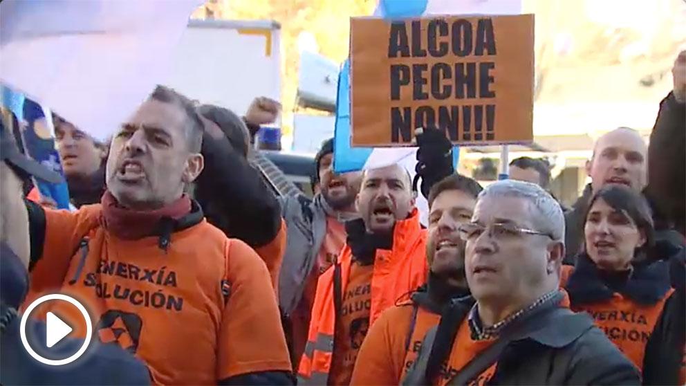Protestas de trabajadores de Alcoa