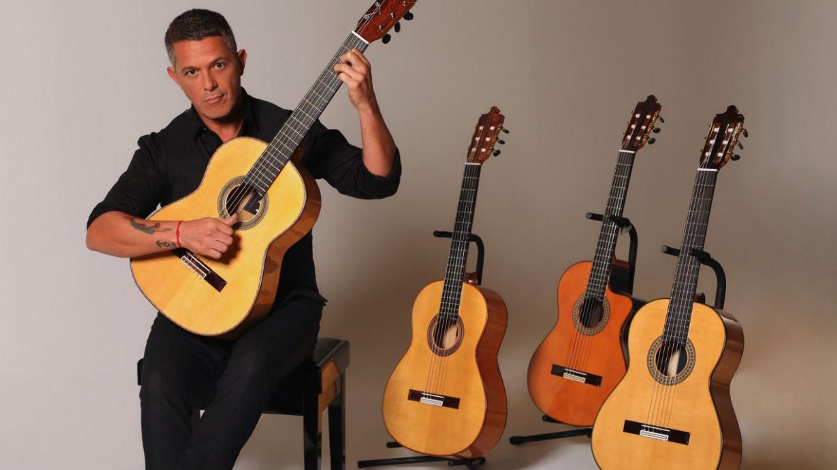 Alejandro Sanz con las cuatro guitarras (EP).