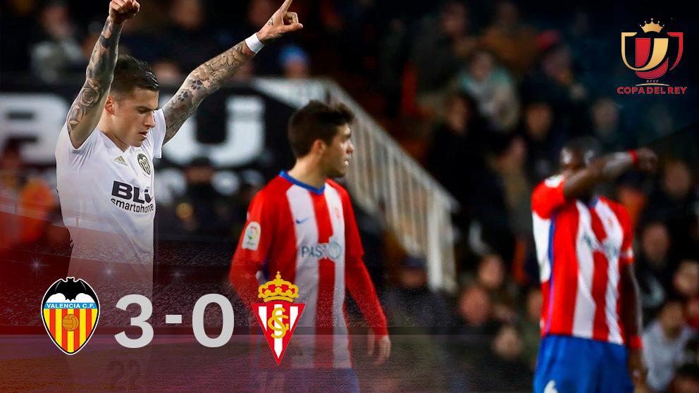 Copa del Rey: Valencia – Sporting de Gijón | Partido de hoy de la Copa del Rey, resultado.