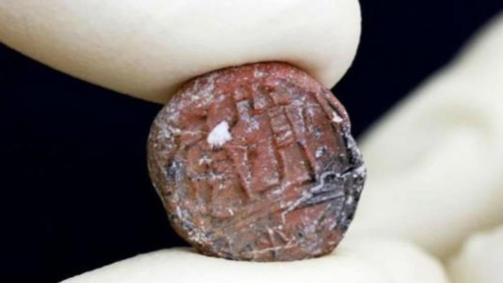 Descubierto un sello mencionado en la Biblia