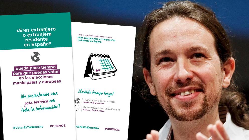 Pablo Iglesias y la guía de voto para inmigrantes que ha creado Podemos
