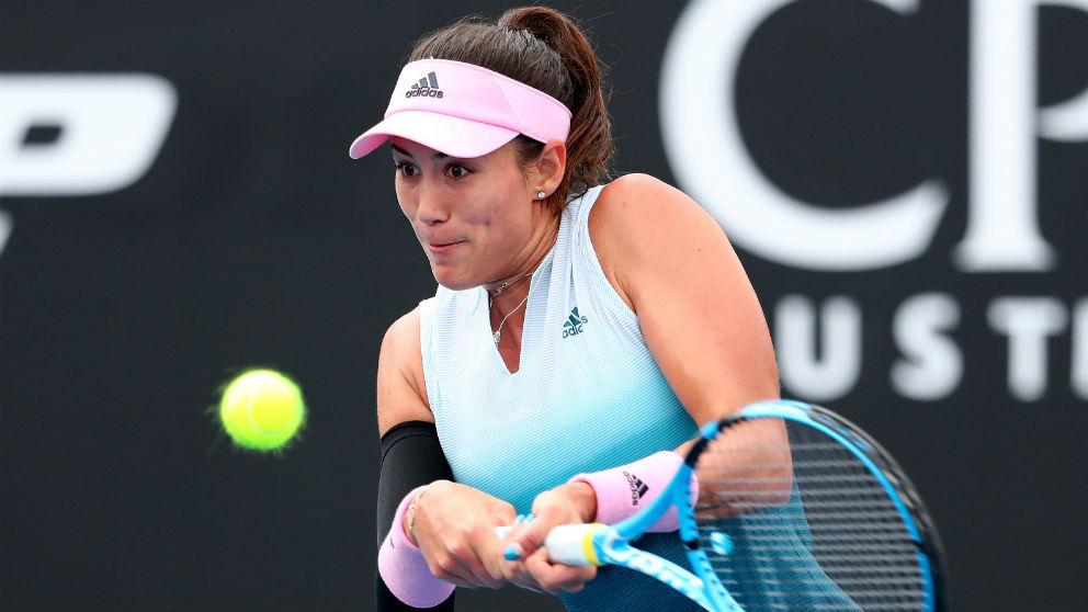 Garbiñe Muguruza, en su debut en el Open de Australia 2019. (Getty)