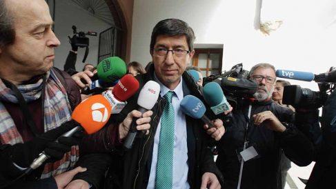 El vicepresidente de la Junta y líder de Ciudadanos en Andalucía, Juan Marín. (Foto: Francisco Toledo)