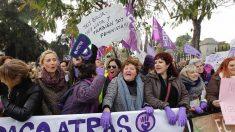 Manifestación feminista frente al Parlamento Andaluz. (Foto: Francisco Toledo)