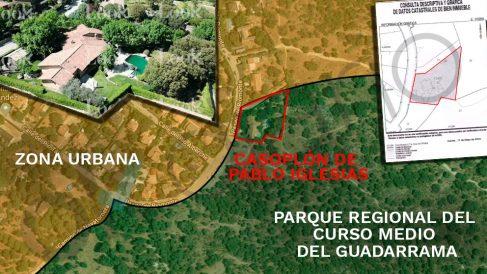 Casoplón de Pablo Iglesias y Montero en pleno parque natural protegido