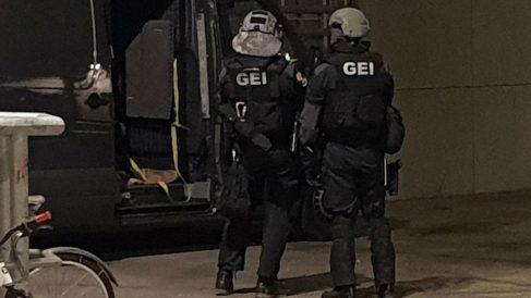 Operación de los Mossos d'Esquadra en Barcelona.