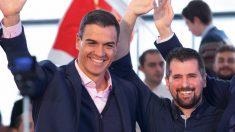 Pedro Sánchez y Luis Tudanca. (Foto. PSOE)