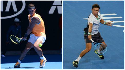 Rafael Nadal y Matthew Ebden. (Getty)