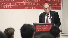 Conferencia de Quim Torra en la Universidad de Stanford. Foto: EP