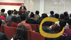 Quim Torra durante su conferencia en Stanford